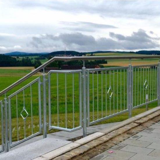 Terrassen-Geländer Edelstahl verzinkt